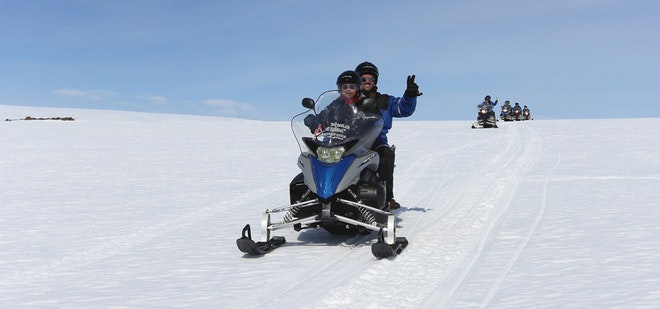 Golden Circle & Langjokull Snowmobiling