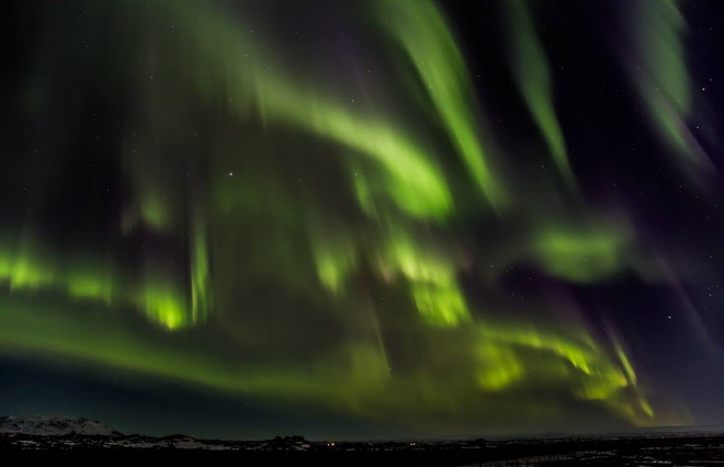 Northern Lights From Lake Myvatn
