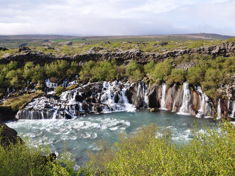 Hraunfossar and Barnafossar